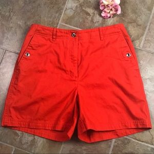 Ralph Lauren Shorts Size 6 Orange w/ Snap Buttons